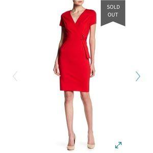 Love...Ady NWT $128 red pencil dress sz M S